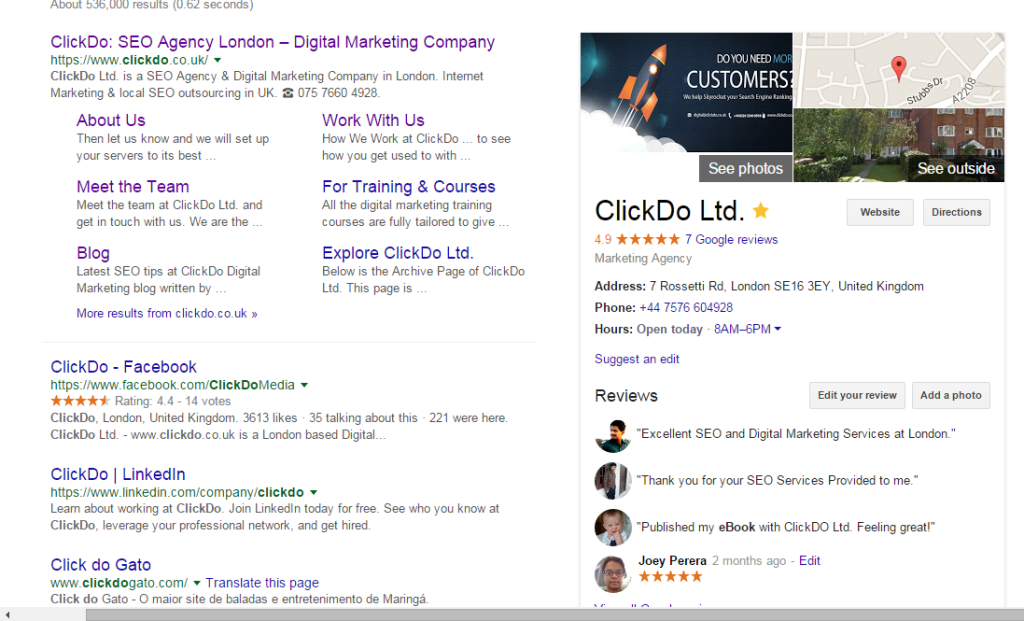 ClickDo Google Search