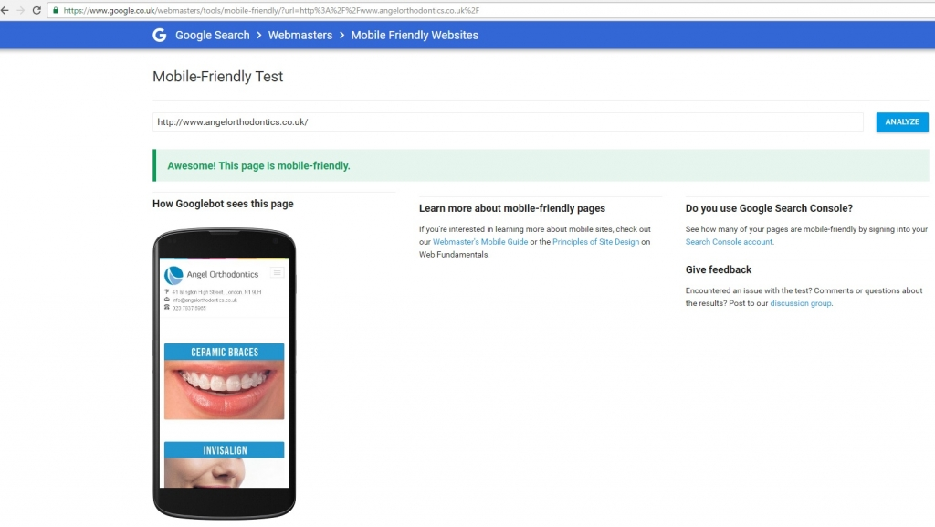 orthodontics-website-mobile-friendly-test