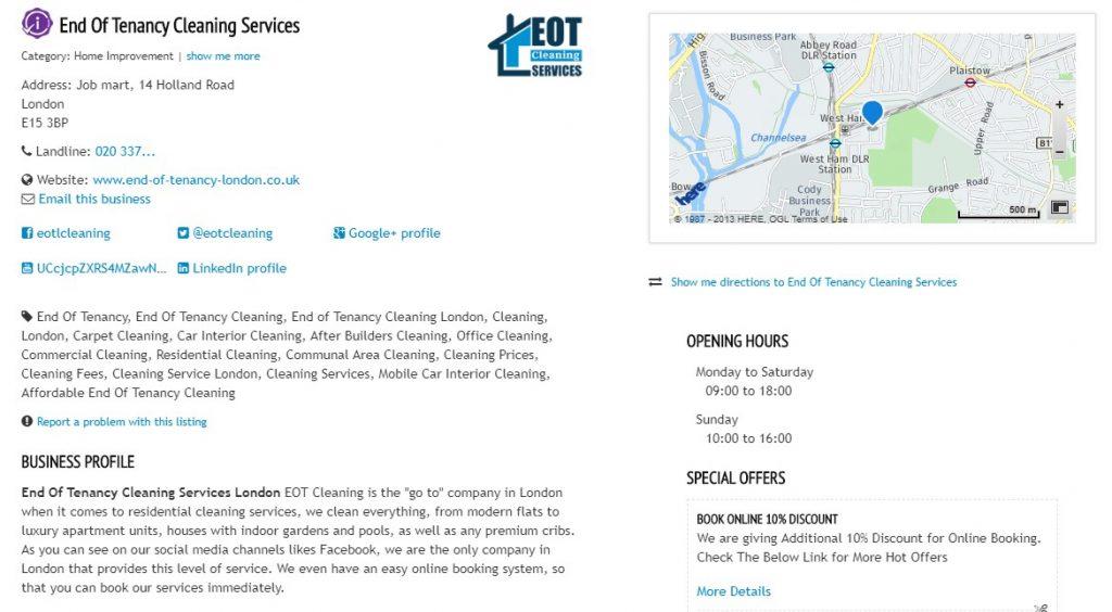 EOT Cleaning - Citation Building
