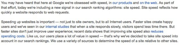 Page Speed a Ranking Factor in SEO