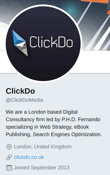 clickdo twitter profile
