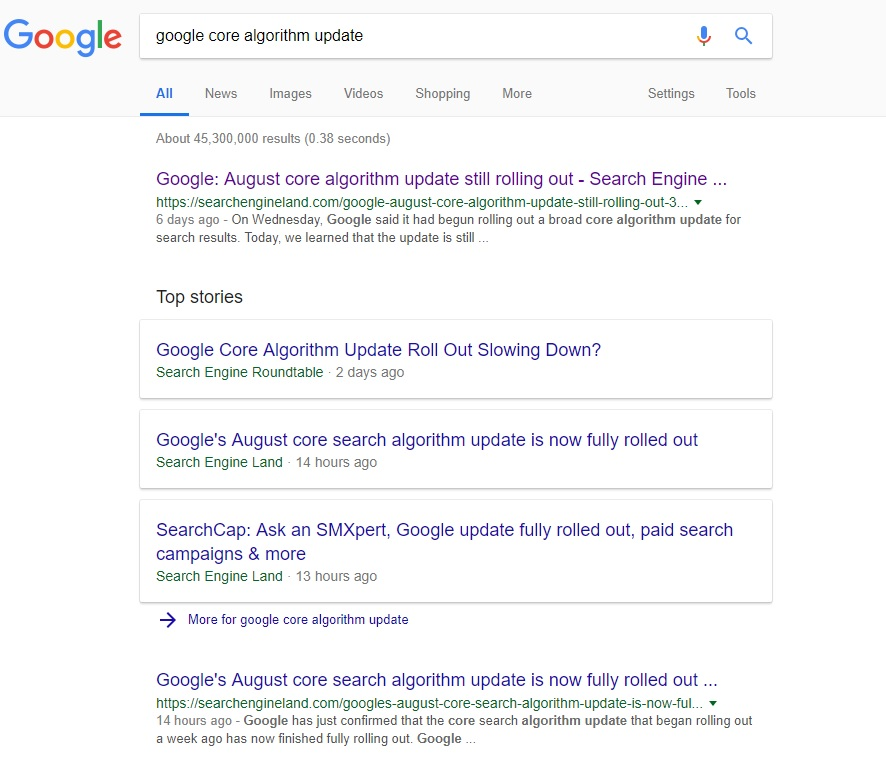 google-core-algorithm-update-2018