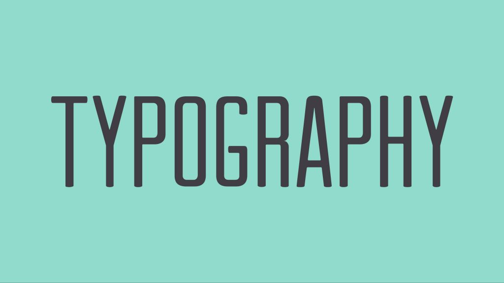 Typography for website design trends